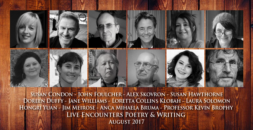 Live Encounters Poetry & Writing August 2017