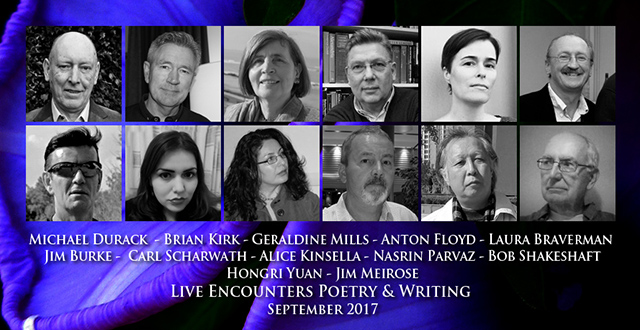 Live Encounters Poetry & Writing September 2017