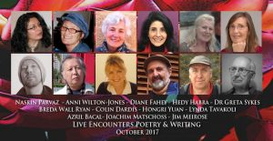 Live Encounters Poetry & Writing October 2017