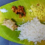 Food at an ashram photograph by Mark Ulyseas
