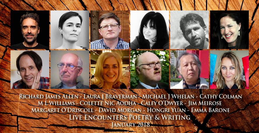 Live Encounters Poetry & Writing January 2018