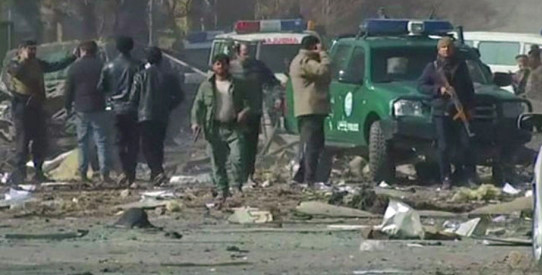 100 people in Kabul on 27 January 2018 Photo Courtesy NewsOne TV