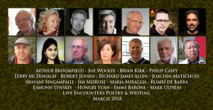 Live Encounters Poetry & Writing March 2018