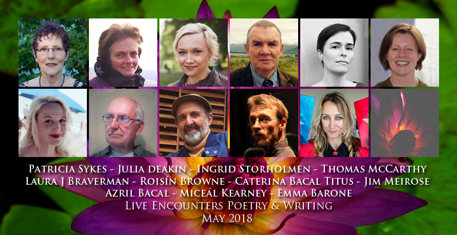 Live Encounters Poetry & Writing May 2018