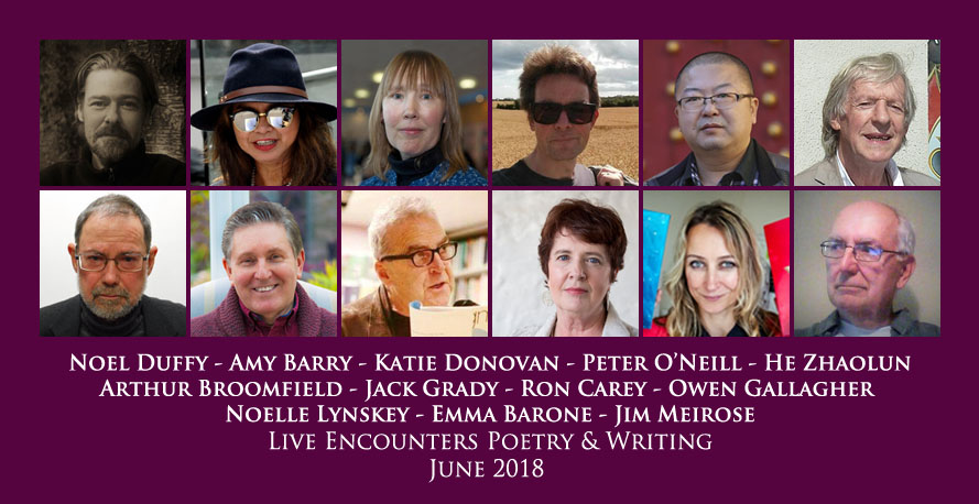 Live Encounters Poetry & Writing June 2018