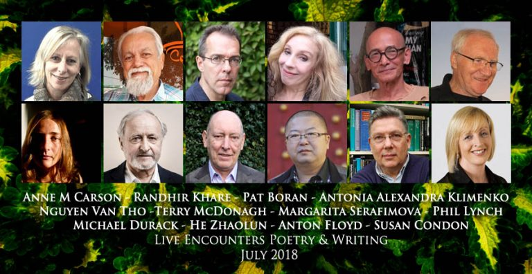 Live Encounters Poetry & Writing July 2018