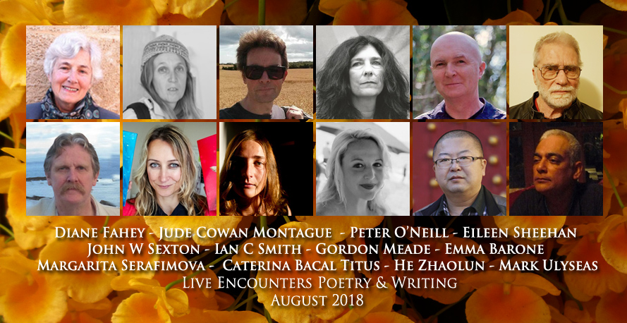 Live Encounters Poetry & Writing August 2018