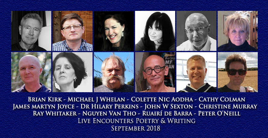Live Encounters Poetry & Writing September 2018