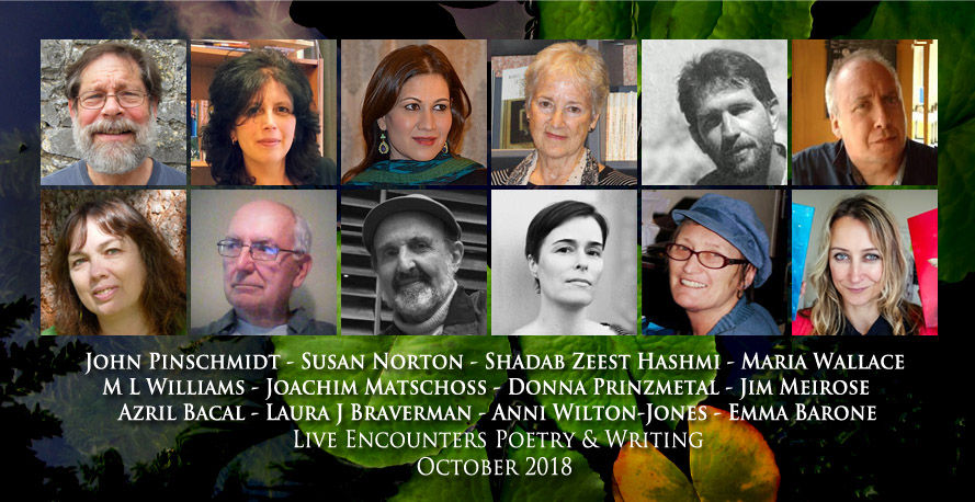 Live Encounters Poetry & Writing October 2018
