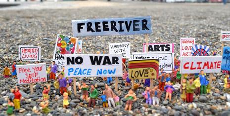 Protest Models Art Artist Joanna Bond Abersytwyth