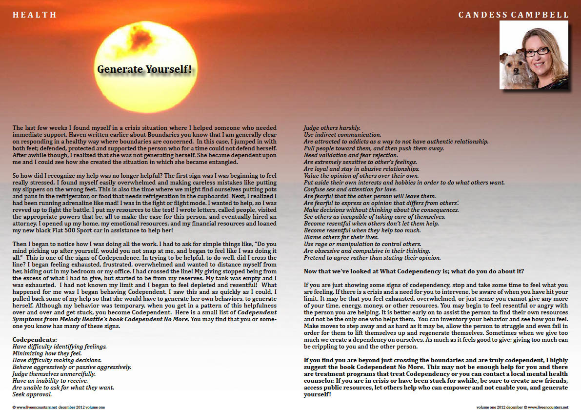 Candess M Campbell LE Mag Vol one Dec 2012