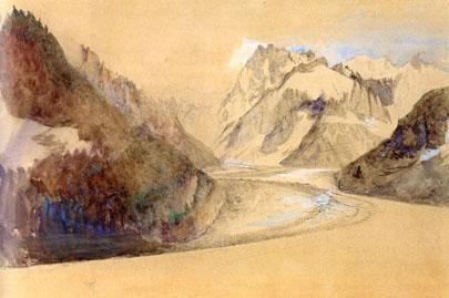 Mer de Glace, Chamonix (1849) John Ruskin.