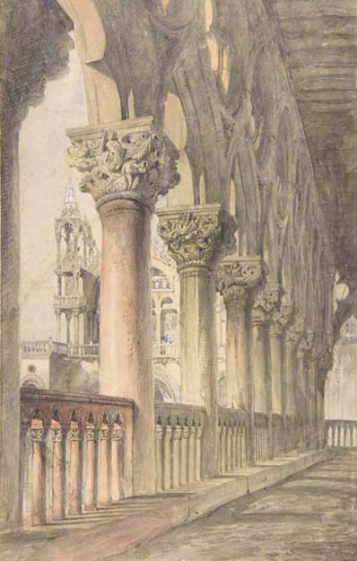 Loggia of the Ducal Palace, Venice (1849-50) John Ruskin.