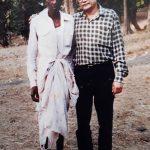 Author with Janu Kaka nearly 3 decades ago.