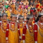 Jainti women from a sub-tribe of Khasi (matriarchal), Meghalaya, India. https://www.utsavpedia.com/attires/khasi-garo-jaintia-mikir-meghalaya-tribes/
