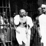 Mahatma Gandhi during his trial for sedition in March 1922
