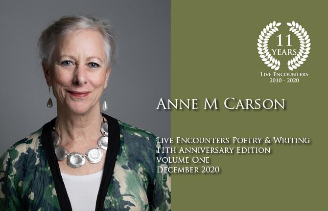 Anne M Carson profile Dec 2020