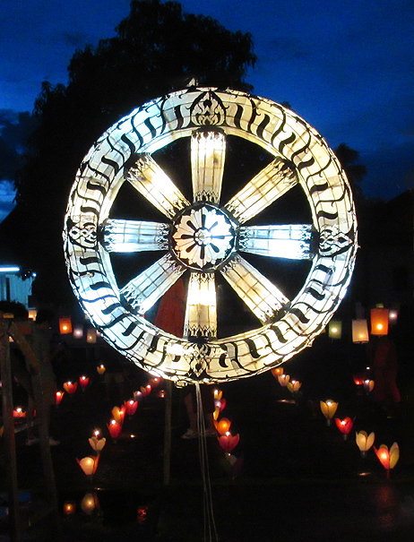 Dharma Wheel photograph by Mark Ulyseas