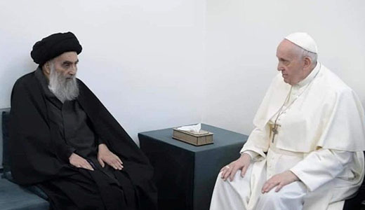 Photo Sistani with Pope Francis