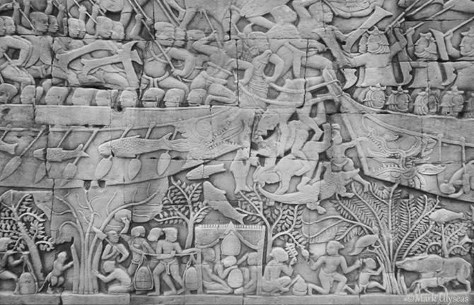 Bayon Temple Siem Reap photograph by Mark Ulyseas