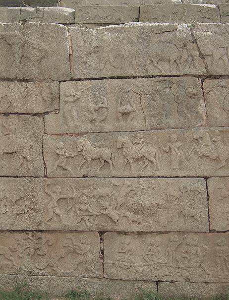 Hampi stone relief photograph by Mark Ulyseas